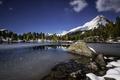 Картинка осень, снег, деревья, горы, озеро, Швейцария, кантон Граубюнден