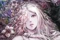 Картинка девушка, цветы, рука, аниме, арт, yamamoto ari