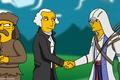 Картинка George Washington, коннор, Connor Kenway, симсоны