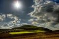 Картинка небо, солнце, облака, поля, Германия, леса, Wassenach