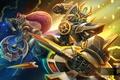 Картинка фантастика, роботы, арт, Heroes of Newerth, Gundam, Savior, Savior Solstice