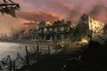 Картинка море, здание, вечер, Assassin's Creed IV: Black Flag, черный флаг
