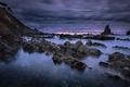 Картинка море, ночь, скалы