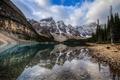 Картинка деревья, горы, природа, озеро, Канада