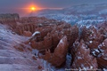 Картинка зима, солнце, снег, каньон