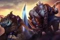 Картинка тигр, меч, воин, Heroes of Newerth, Wildsoul, Tigersoul