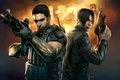 Картинка пистолет, автомат, Resident Evil, Leon Scott Kennedy, Chris Redfield, Крис Редфилд