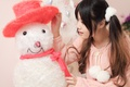 Картинка лицо, волосы, игрушка, снеговик, косы
