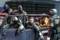 Картинка мальчик, джип, солдаты, snake, fan art, big boss, Metal Gear Solid V: Ground Zeroes