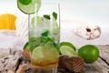Картинка море, пляж, ракушки, beach, sand, drink, mojito