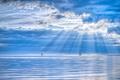 Картинка море, лодки, небо