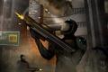 Картинка город, оружие, монстр, арт, солдаты, Ryan Jones
