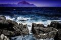 Картинка море, небо, горы, камни, скалы