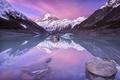 Картинка озеро, гора, Новая Зеландия, Аораки