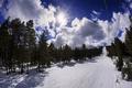 Картинка облака, холод, снег, зима, природа, пейзаж