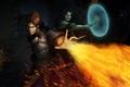 Картинка тьма, огонь, маг, нежить, dragon age: inquisition