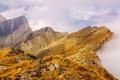 Картинка камни, скалы, небо, трава, облака, горы