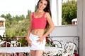 Картинка улыбка, юбка, маечка, красивая девушка, Lorena Morena