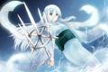 Картинка взгляд, девушка, меч, аниме, арт, юката