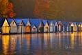 Картинка деревья, озеро, Канада, Онтарио, Большой Садбери, лодочные домики