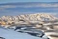 Картинка небо, снег, пейзаж, горы, Исландия