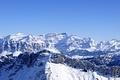 Картинка небо, снег, горы, вершина, пик, гряда