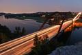 Картинка мост, огни, вечер, Техас, Аустин