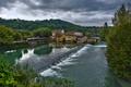 Картинка лес, река, красота, деревушка, Borghetto