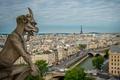 Картинка небо, мост, река, Франция, Париж, башня, дома