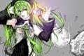 Картинка девушка, механизм, арт, галстук, vocaloid, hatsune miku, зеленые волосы