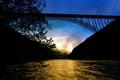 Картинка Природа, мост, река