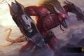 Картинка лезвия, демон, рога, hon, мышцы, Heroes of Newerth, Night Hound