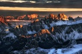 Картинка дорога, солнце, снег, горы