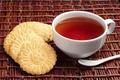 Картинка чай, печенье, ложка, чашка, белая