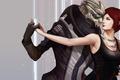 Картинка платье, mass effect, dance, Shepard, Garrus Vakarian