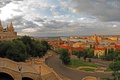 Картинка город, фото, дороги, дома, лестница, Венгрия, Budapest