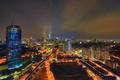 Картинка ночь, огни, дома, панорама, Малайзия, Куала-Лумпур