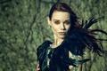 Картинка перья, макияж, Kiki Schou