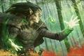 Картинка лес, магия, эльф, свечение, талисман, заклинание, Magic The Gathering