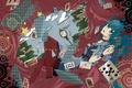 Картинка карты, девушка, книги, арт, vocaloid, hatsune miku, suzuya