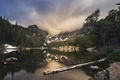 Картинка горы, Colorado, природа, деревья, Rocky Mountain National Park, озеро, небо