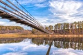 Картинка пейзаж, мост, река