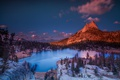 Картинка горы, озеро, утро