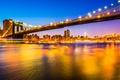 Картинка ночь, мост, город, огни, пролив, вечер, США