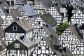 Картинка крыша, дом, дерево, улица, текстура