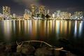 Картинка ночь, огни, Гаваи, Гонолулу