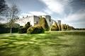 Картинка трава, дизайн, замок, дерево, Великобритания, кусты, Wales