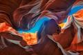 Картинка природа, скалы, небо, каньон антилопы