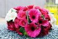 Картинка цветы, розы, герберы, букет