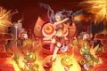 Картинка взрывы, league of legends, роботы, jinx, джинкс